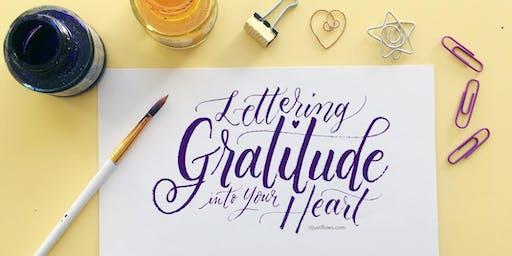 Gratitude Expressive Lettering Workshop