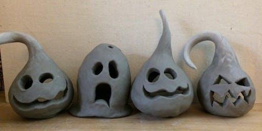 Clay Sculpting Spooky Lanterns Thurs Oct 10