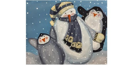 Winter Party Paint & Sip Night - Snacks Included tickets