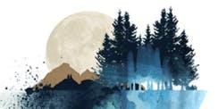 Acrylic Art Class: Abstract Moonlight Landscape  Thurs October 3