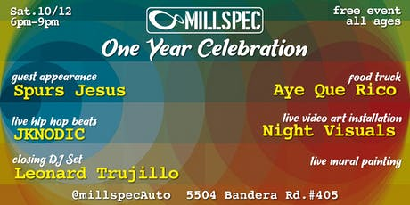 Millspec One Year Celebration tickets