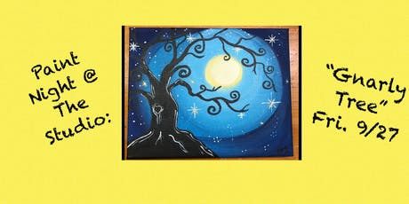 "Paint Night @ The Studio:  ""Gnarly Tree"" - 11x14 Take Home Canvas Art tickets"