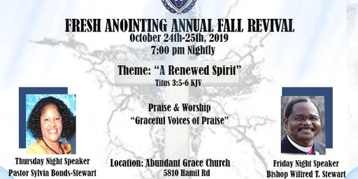 Fresh Anointing Annual Fall Revival