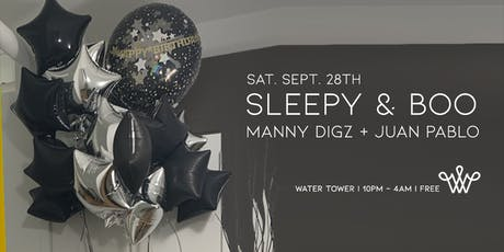 Sleepy & Boo - Begoña's B-Day Bash - Water Tower Bar - free tickets