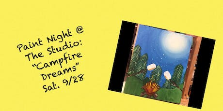 "Paint Night @ The Studio:  ""Campfire Dreams"" -  11x14 Take Home Canvas Art tickets"