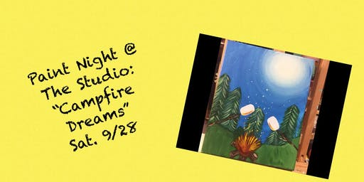 "Paint Night @ The Studio:  ""Campfire Dreams"" -  11x14 Take Home Canvas Art"