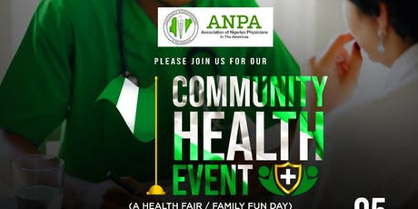 Association of Nigerian Physicians of America's Community Health Fair tickets