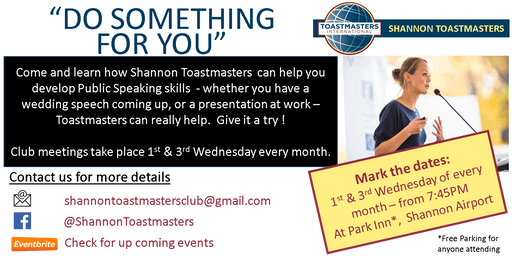Shannon Toastmasters - Club meetings