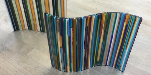 On Edge Double Curve   Fusing Glass at db Studio