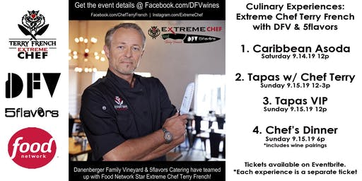 VIP  Tapas w/ Extreme Chef Terry French
