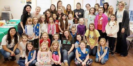 Girl Scouts Friendship Bracelet Making with ETSU Kappa Delta