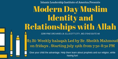 Muslim Identity Halaqa with Sheikh Mahmoud- 9/27 tickets