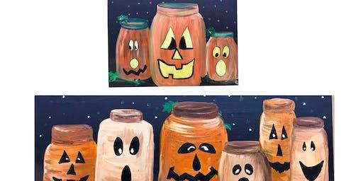 """Adult Open Paint (18yrs+) """"Pumpkin Fun"""""""