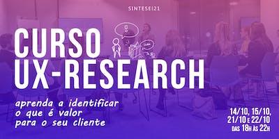 Curso UX Research  - Florianópolis (14/10 a 22/10)