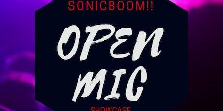 SONICBOOM- OPEN MIC SHOWCASE tickets