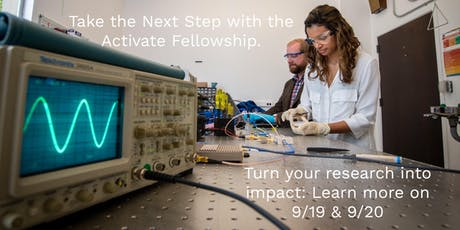 Lunch and Learn: The Activate Fellowship for Entrepreneurial Scientists and Engineers tickets