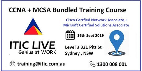 CCNA + MCSA Certification Bundled Course tickets