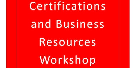 Gallia County Small Business Certifications and Business Resources Workshop tickets