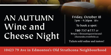 An Autumn Wine and Cheese Night at Ibon Antiques tickets