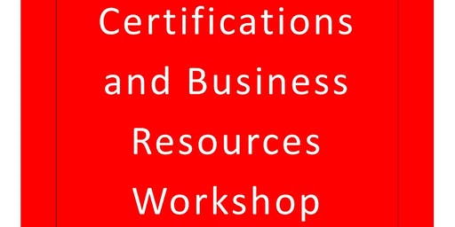 Lawrence Co. Small Business Certifications and Business Resources Workshop