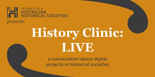 History Clinic Live: Digital Historical Societies