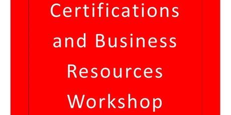 Ross County Small Business Certifications and Business Resources Workshop tickets