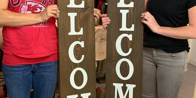 Wine & Wood - Welcome SIGN - BYOB
