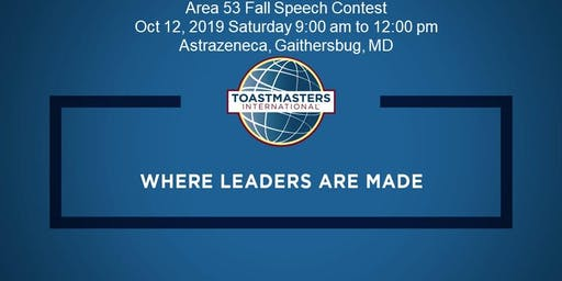 Toastmasters Area 53 Speech Contest