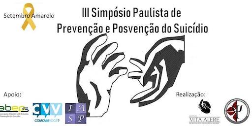 III Simpósio Paulista de Prevenção e Posvenção do Suicídio