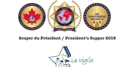 IPA Montérégie: Souper du Président / President's Supper 2019 billets