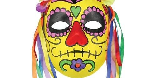 Mexican skull masks (Ages 8-15) (Dickson Library)