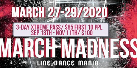 March Madness Line Dance Mania 2020 tickets