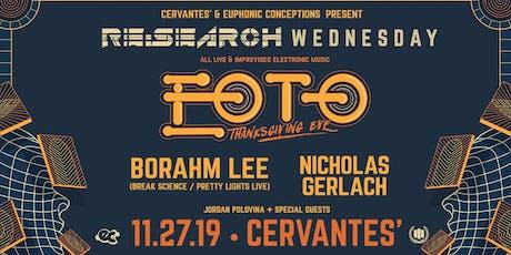 RE:Search feat. EOTO w/ Borahm Lee, Nicholas Gerlach, Jordan Polovina tickets