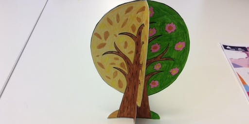 Arncliffe Library - School Holiday Activity - Four Seasons 3D Tree