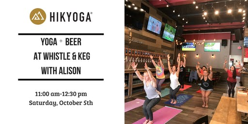 Yoga + Beer at Whistle & Keg Cleveland with Alison!