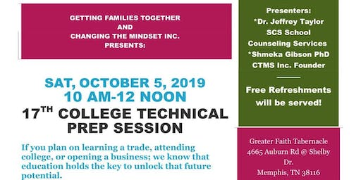17th Annual College/ Technical Prep Session