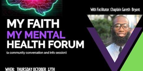 My Faith  My Mental Health Forum tickets
