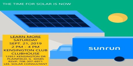 THE TIME FOR SOLAR IS NOW tickets