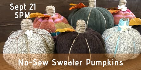 No-Sew Sweater Pumpkins tickets