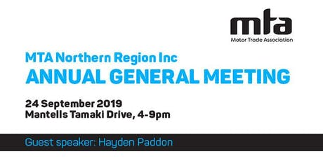 MTA Northern: Annual General Meeting, Auckland tickets