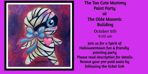 Too Cute Zombie Paint Party at the Olde Masonic Building
