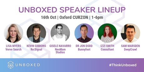 Unboxed - Oxford's Digital Marketing Conference tickets