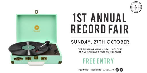 NHH Record Fair - Sunday October 27th
