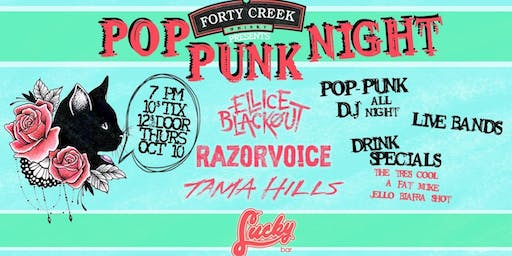 Pop Punk Night: Ellice Blackout, Razorvoice, Tama Hills
