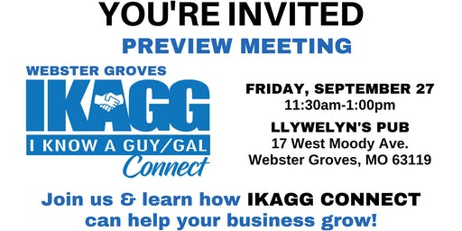Webster Groves IKAGG CONNECT Preview Meeting