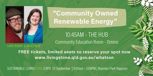 """Luke Reade & Nicky Ison """"Community Owned Renerable Energy"""""""