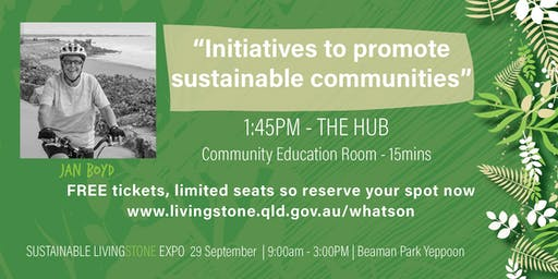 """Jan Boyd """"Initiatives to promote sustainable communities"""""""