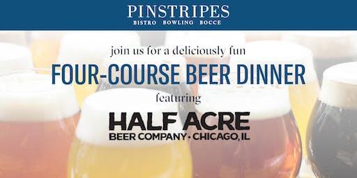 Four-Course Beer Dinner - Pinstripes Oak Brook & Half Acre Beer