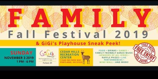 Family Fall Festival and GiGi's Playhouse Sneak Peek!