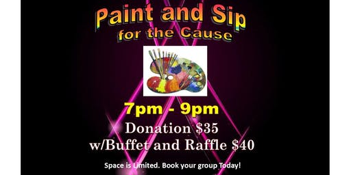 Paint and Sip for the Cause - A Breast Cancer Awareness Fundraiser Event